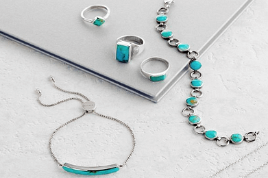 December birthstones - tanzanite, turquoise and zircon